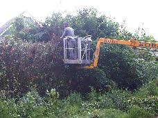 Tuinonderhoud met hoogwerker